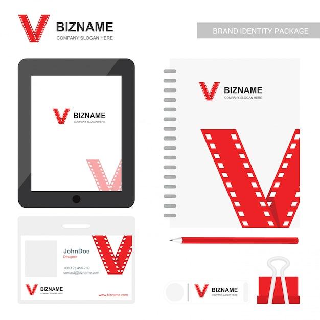 Conception De Journal D'entreprise Et Carte Avec Vecteur De Thème Rouge Vecteur Premium