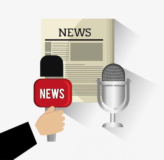 Conception de journalisme. Vecteur Premium