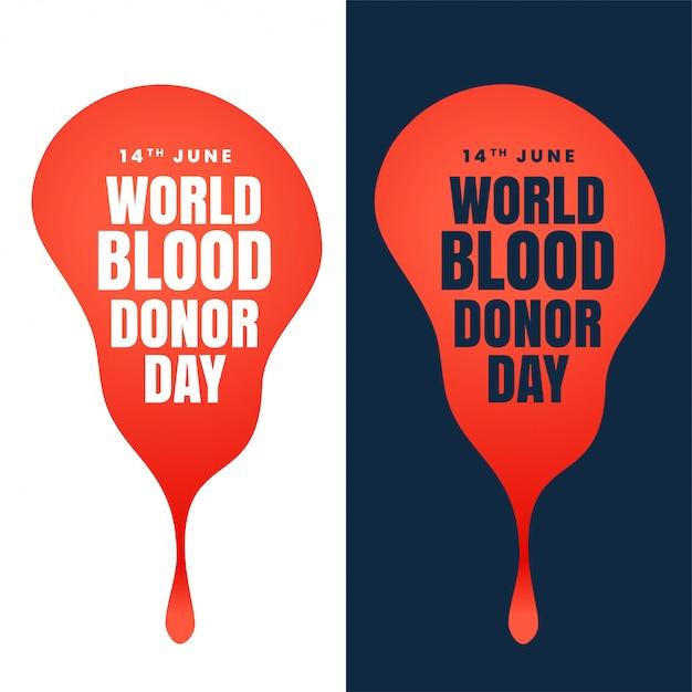 Conception de la journée mondiale du donneur de sang Vecteur gratuit