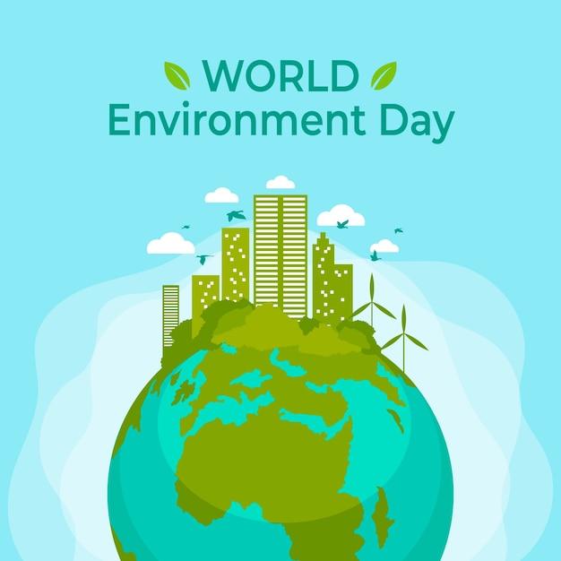 Conception De La Journée Mondiale De L'environnement Vecteur gratuit