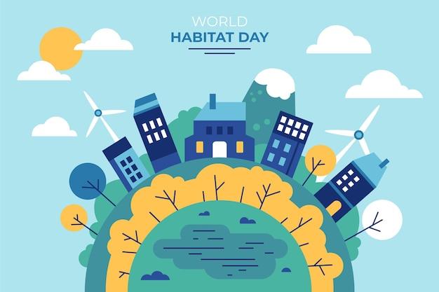 Conception De La Journée Mondiale De L'habitat Vecteur gratuit