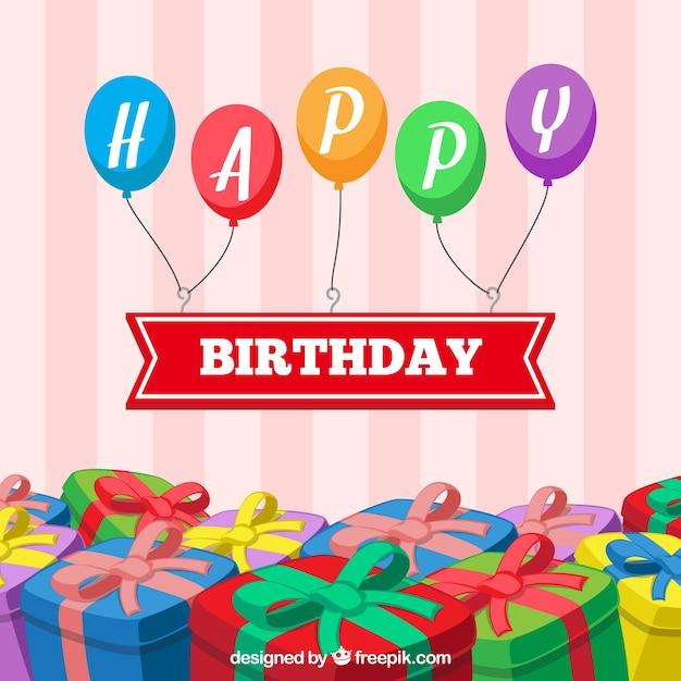 Conception de joyeux anniversaire Vecteur gratuit