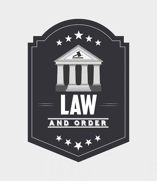 Conception De La Justice Et Du Droit Vecteur gratuit