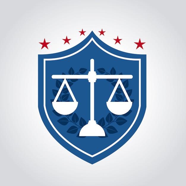 Conception de la justice Vecteur Premium
