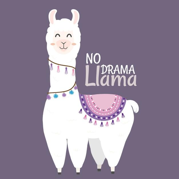 Conception de lama mignon Vecteur Premium