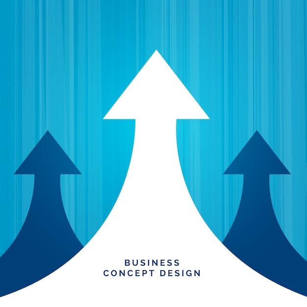 Conception de leadership de concept d'affaires avec flèche Vecteur gratuit