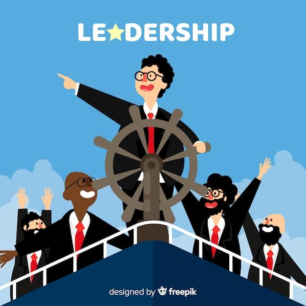 Conception de leadership à plat Vecteur gratuit
