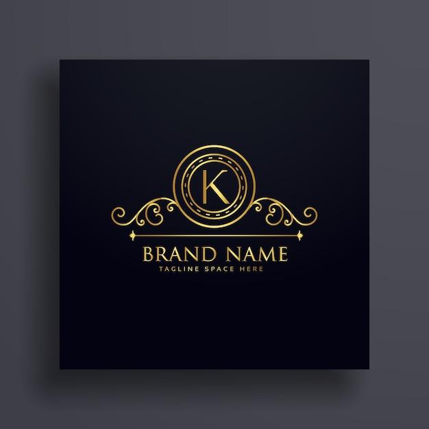 Conception de la lettre premium k marque logo concept Vecteur gratuit