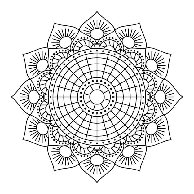 Conception Linéaire De Mandala De Vecteur Vecteur Premium