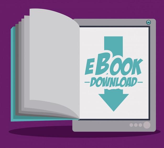 Conception de livre électronique Vecteur Premium
