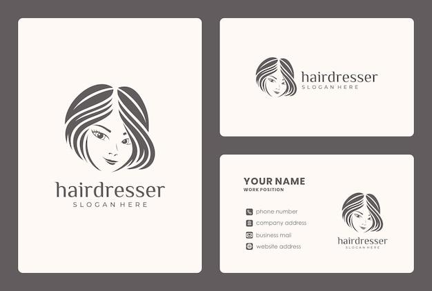 Conception De Logo De Beauté De Cheveux Minimaliste. Le Logo Peut être Utilisé Pour Un Salon De Beauté, Un Magasin De Soins De La Peau. Vecteur Premium