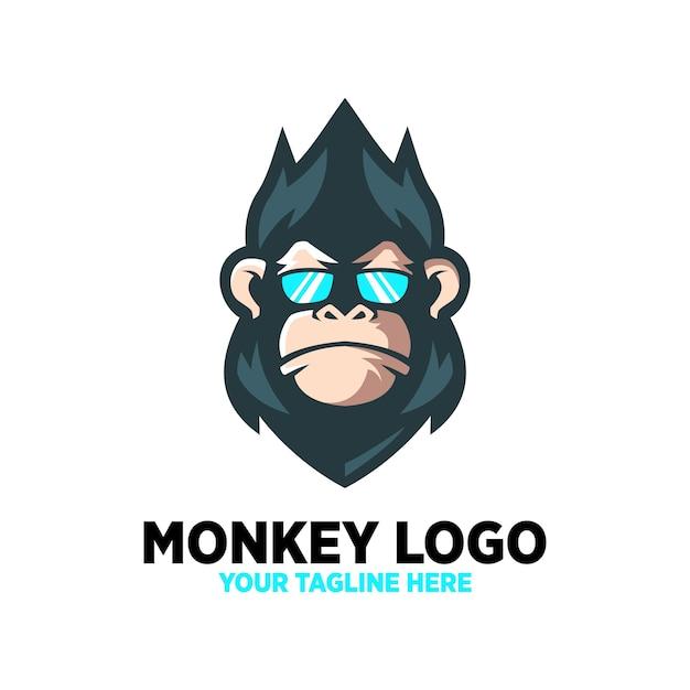 Conception De Logo Cool De Singe Vecteur Premium