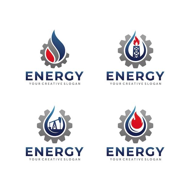 Conception De Logo De Gaz Et De Pétrole Vecteur Premium