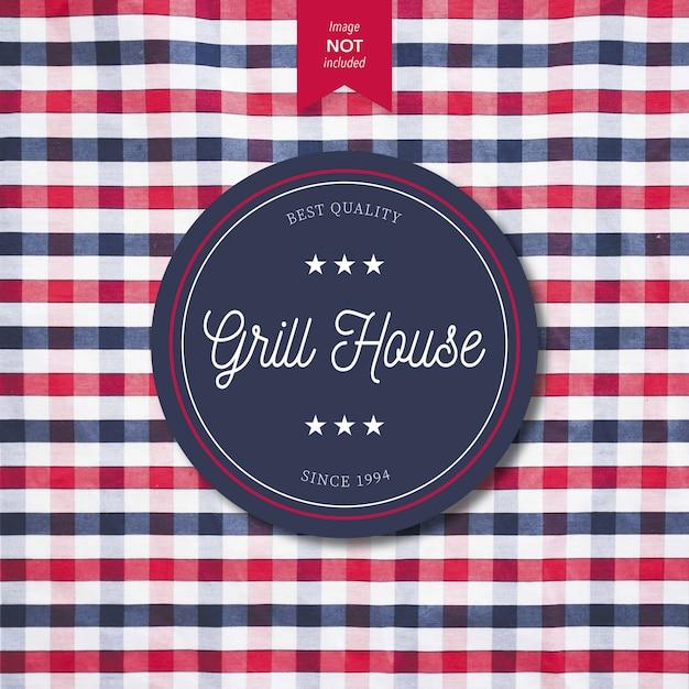 Conception De Logo Grill House Vecteur gratuit