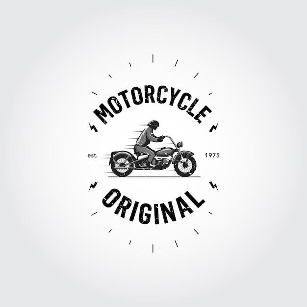Conception de logo de moto Vecteur gratuit