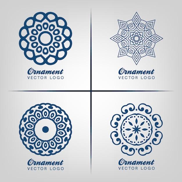 Conception de logo ornemental Vecteur gratuit