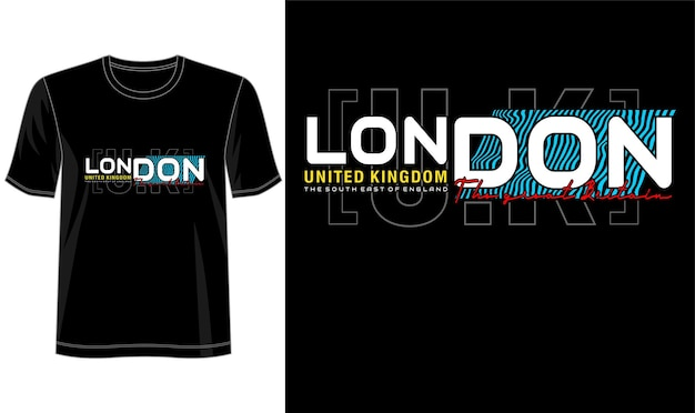 Conception De Londres Royaume-uni Pour T-shirt Imprimé Et Plus Vecteur Premium