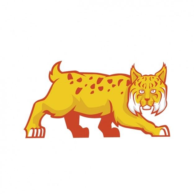 Conception De Lynx Peint à La Main Vecteur gratuit