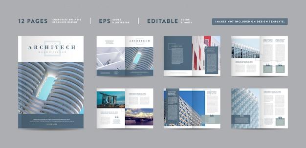 Conception De Magazines D'architecture | Mise En Page Du Lookbook éditorial | Portefeuille Polyvalent | Conception De Livre Photo Vecteur Premium