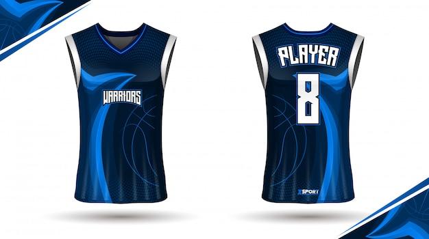 Conception de maillots de basket Vecteur Premium