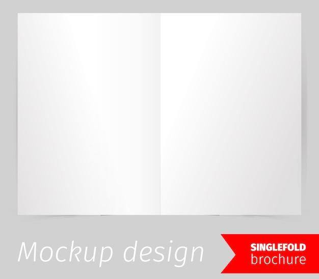 Conception de maquette de brochure à pli simple Vecteur gratuit