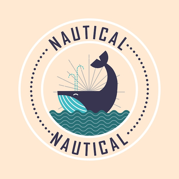Conception maritime nautique Vecteur Premium