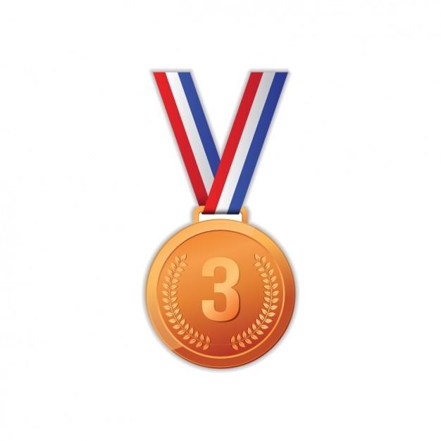 La conception de la médaille bronzed Vecteur gratuit