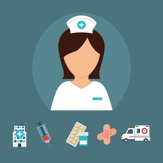 Conception médicale. illuistration Vecteur Premium