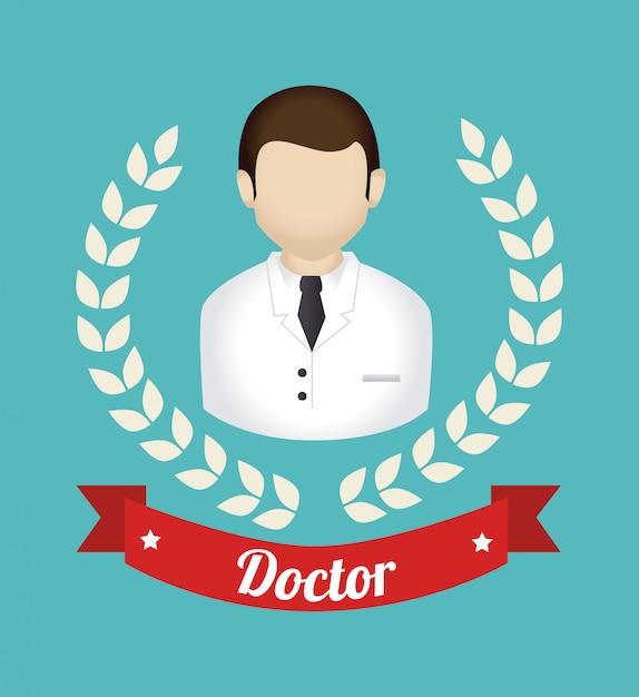Conception médicale sur illustration bleue Vecteur gratuit