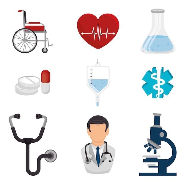 Conception médicale. Vecteur Premium