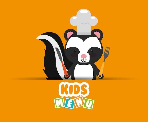 Conception de menu pour enfants Vecteur gratuit