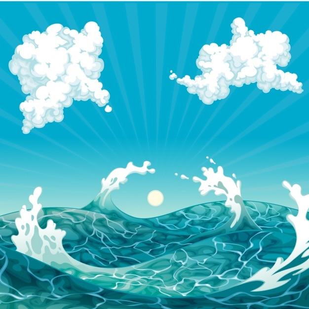 Conception mer de fond Vecteur gratuit