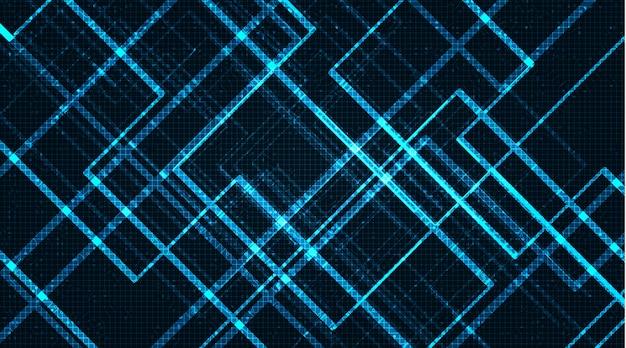 Conception De Microchip Léger, Néon Numérique Et De Sécurité, Vecteur Premium