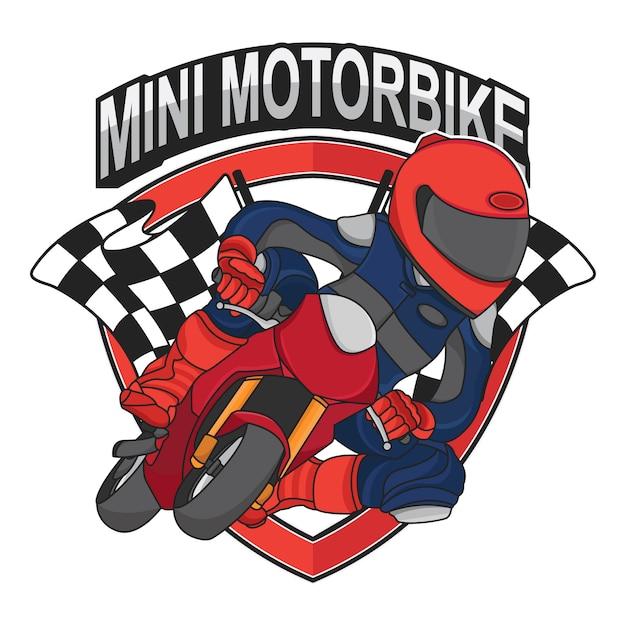 Conception de mini moto Vecteur Premium