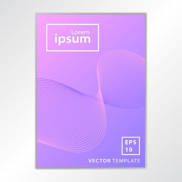 Conception minimale de la couverture de la brochure commerciale Vecteur Premium