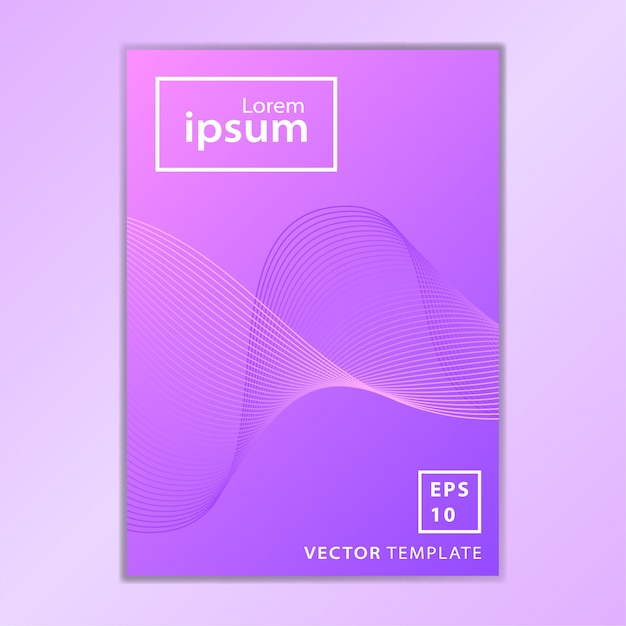 Conception minimale de la couverture de la brochure commerciale Vecteur Premium