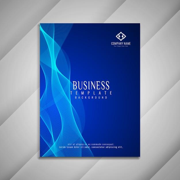 Conception de modèle abstrait brochure affaires ondulées Vecteur gratuit