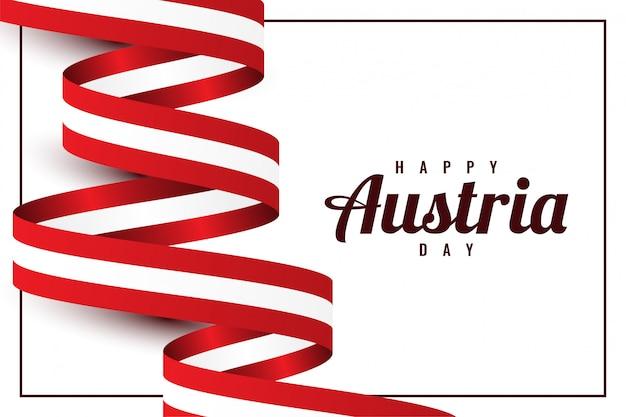 Conception De Modèle De Bonne Journée Autriche Vecteur Premium