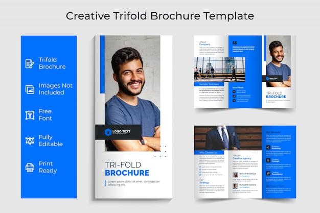 Conception De Modèle De Brochure Créative à Trois Volets Vecteur Premium