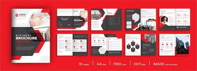 Conception De Modèle De Brochure D'entreprise Moderne Vecteur Premium