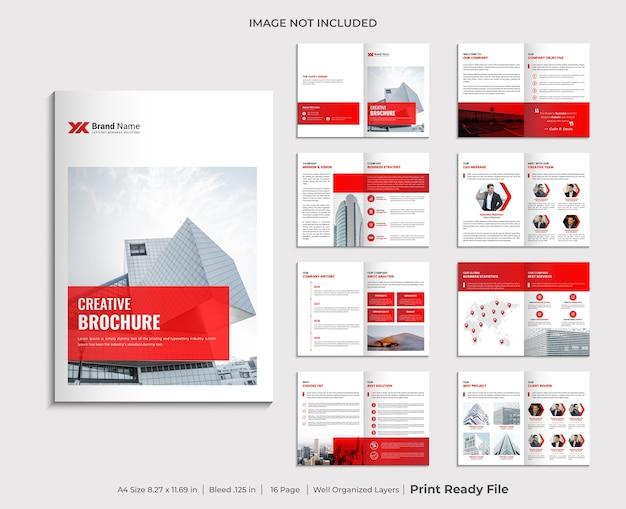 Conception De Modèle De Brochure D'entreprise Multi-pages Minimaliste Vecteur Premium