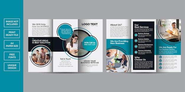 Conception De Modèle De Brochure D'entreprise à Trois Volets Vecteur Premium