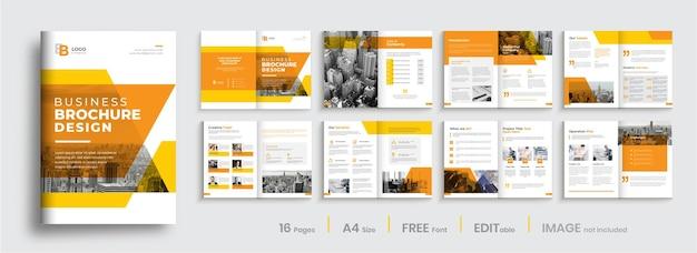 Conception De Modèle De Brochure D'entreprise Vecteur Premium