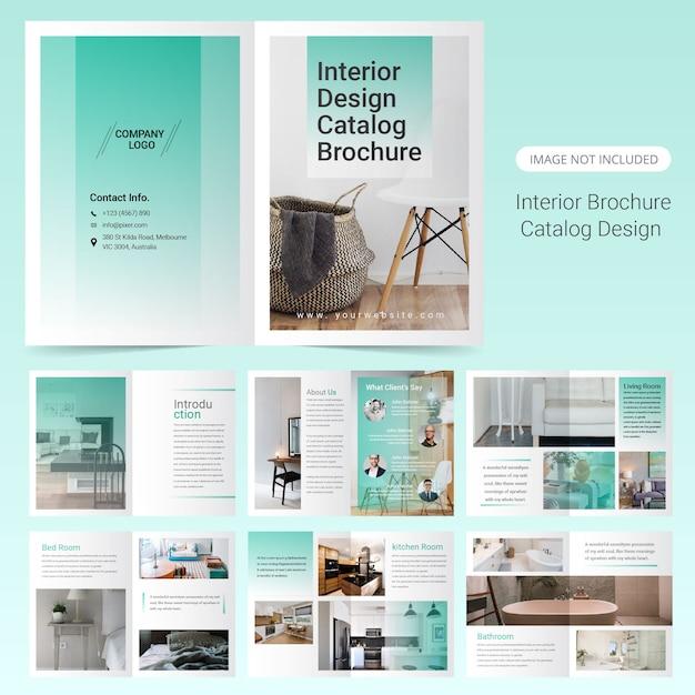 Conception de modèle de brochure d'intérieur Vecteur Premium