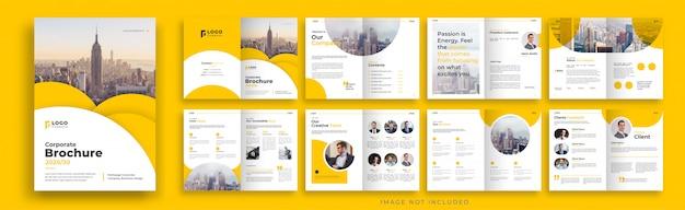 Conception De Modèle De Brochure Multicolore D'entreprise Orange Vecteur Premium