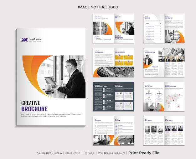 Conception De Modèle De Brochure De Profil D'entreprise Vecteur Premium