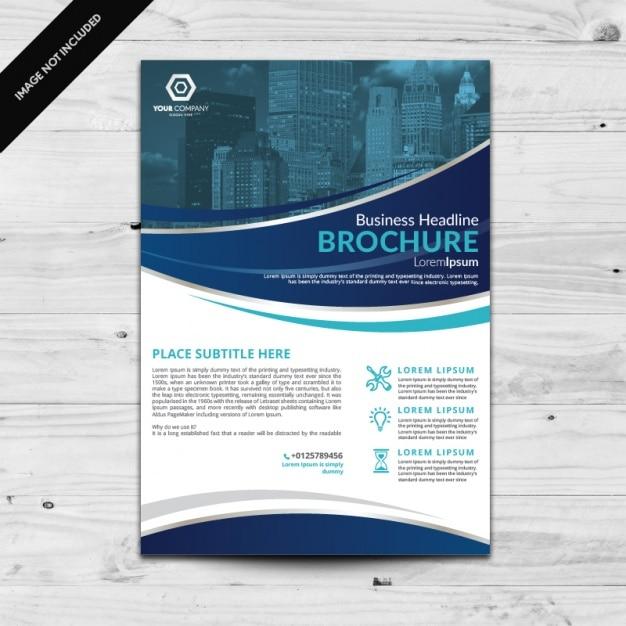 Conception de modèle brochure Vecteur gratuit