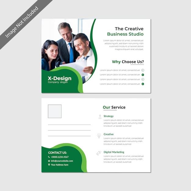 Conception De Modèle De Carte Postale D'affaires Vecteur Premium
