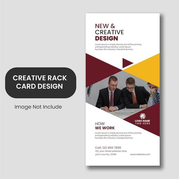 Conception De Modèle De Carte De Rack De Visite Créative Vecteur Premium