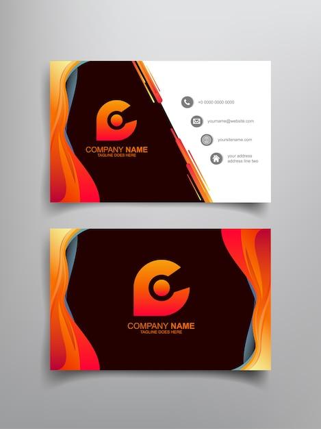 Conception de modèle de carte de visite avec cadre abstrait Vecteur Premium